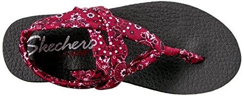 Skechers Cali Da Donna Meditazione Slingback Yoga Flip-flop Bandana Rossa