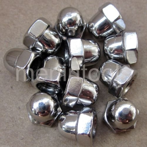 12 Pcs M6 x 1 Stainless Steel Acorn Hex Nut Right Hand Thread