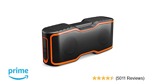 AOMAIS Sport II Portable Wireless Bluetooth Speakers 4.0 Waterproof IPX7, 20W Bass Sound, Stereo Pairing, Durable Design Backyard, Outdoors, Travel, Pool, ...