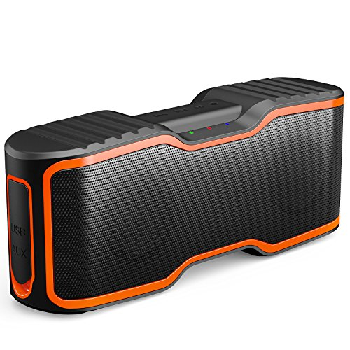 AOMAIS Sport II Portable Wireless Bluetooth Speakers 4.0 with Waterproof IPX7,20W Bass Sound,Stereo Pairing,Durable Design for iPhone /iPod/iPad/Phones/Tablet/Echo dot,Good Gift(Orange) - Battery Technology Ipod Speaker