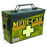 Be Smart Get Prepared Medi+Can First Aid and Advance Wound Care Kit; Great for any Outdoor Adventure like Camping, hiking, hunting, climbing, fishing & emergency situations. (52-Pieces).