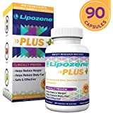 Lipozän Plus Garcinia Cambogia Extract, Forskolin, and Glucomannan - 50% HCA Pure Extract [Appetite Suppressant Weight Loss Diet Pills] No Caffeine No Jitters - 90 Capsules