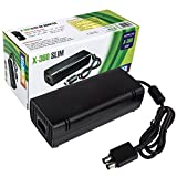 xbox 360 console and cords - (Updated Version) Power Supply Cord AC Adapter Power Brick Replacement Charger for Xbox 360 Slim 360s with Cable ,Auto Voltage 100-240V, Black
