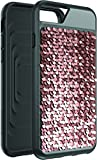 Body Glove Shimmer Reversible Sequins Phone Case for iPhone 6 Plus, 6s Plus, 7 Plus, 8 Plus - Black/Rose Gold