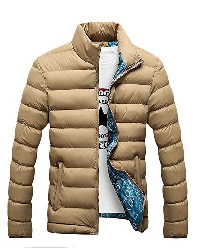 Sezione Cachi Giubbotto Una Giacca Uomo Yonglan Miscelato Giù Piccola Cappotto Corta Cotone Trapuntata Slim qO6w4x15