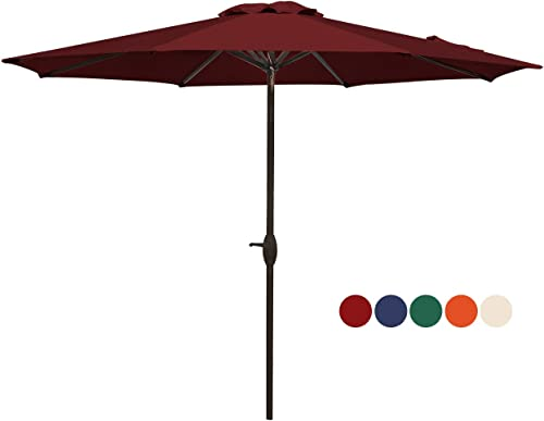 HASLE OUTFITTERS Patio Umbrella 9FT Table Umbrella Outdoor Market Umbrella