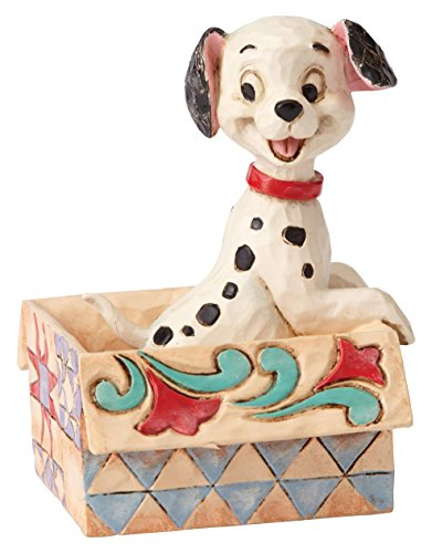Disney Traditions by Jim Shore 101 Dalmatians Mini Lucky Personality Pose Stone Resin Figurine, 2.9