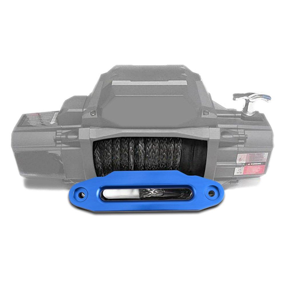 10 Aluminum 8000-15000 LBs Hawse Fairlead for Synthetic Winch Rope Cable ATV UTV Black + Chrome