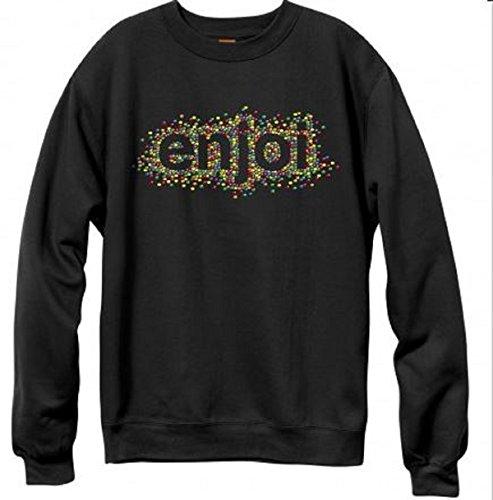 (Enjoi Skiddles Crew Neck Sweatshirt, Black,)