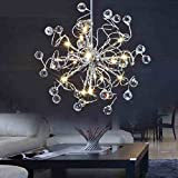 MAMEI 15 Lights LED Modern Crystal Chandelier Lighting for Living Room,Dining Room,Bedroom.