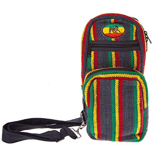 Jah Rasta Travel Purse Fanny Pack Belt-rasta kave bag hippie boho travel ()