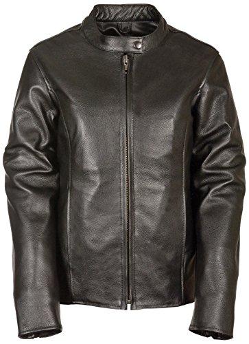 Milwaukee Women's Scooter Jacket (Black, Large) (Antique Brass Hardware)