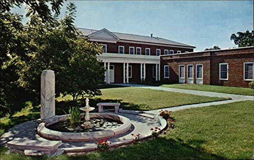 Yates College Union Building with Memorial Fountain in Foreground, William Jewell College Original Vintage Postcard ()