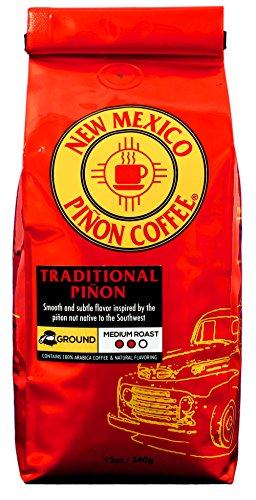 Ground Traditional - New Mexico Piñon Coffee Naturally Flavored Coffee (Traditional Piñon Ground, 12 ounce)