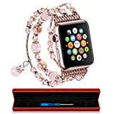 Xultrashine Fashion Handmade Faux Pearl Natural Stone Apple Watch Band Replacement BraceletShe has been patientBelieving the best is worth the waitYet the last apple fallen from the treeIs usually sourThe love that rocks your soulIs hardly th...