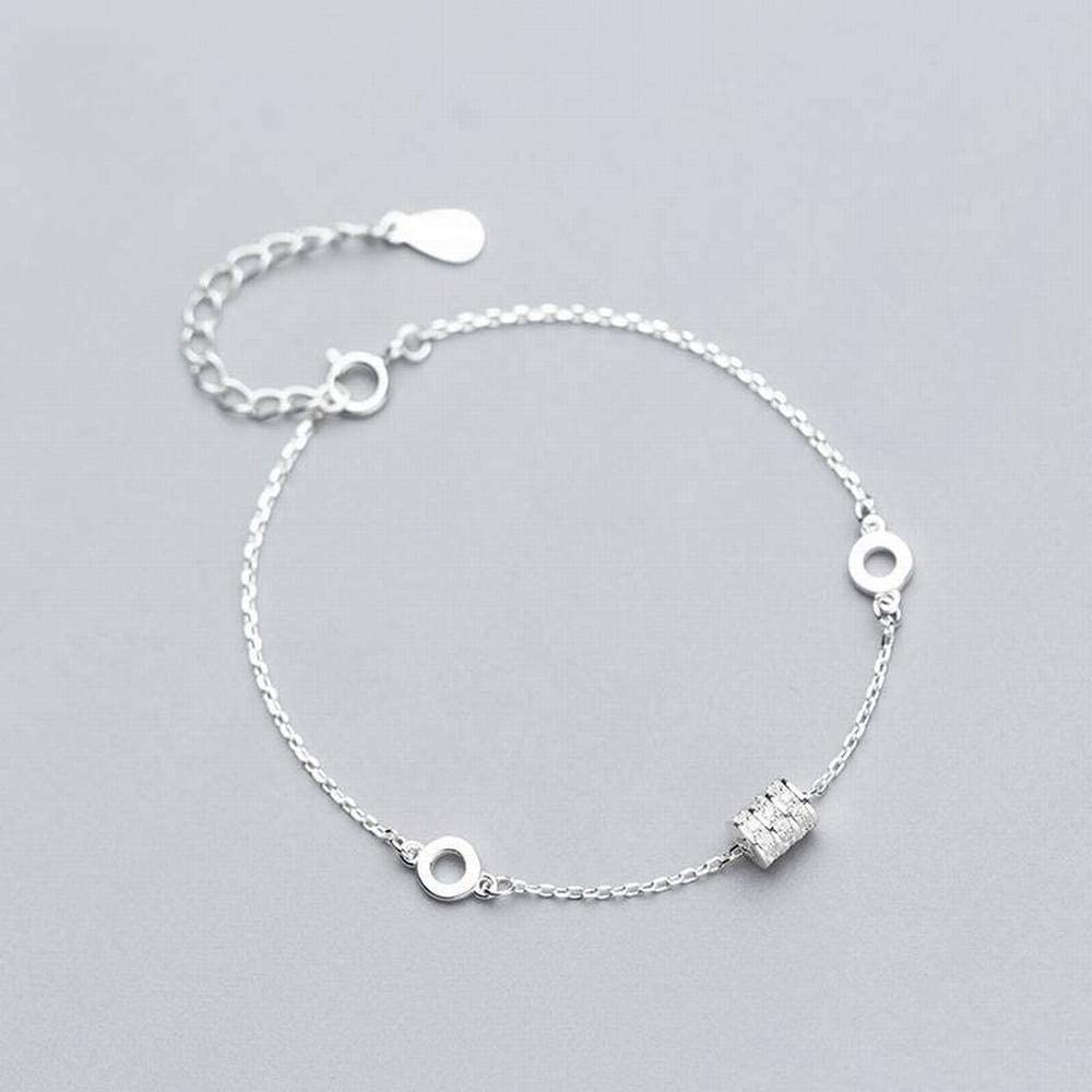 Bangles Bracelets S925 Silver Bracelet Female Fashion Personality Oval Bracelet Temperament Hollow Ring LOt