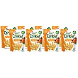 Sprout Organic Baby Food, Sprout Organic Crinklez Toddler Snack, Pumpkin Carrot, 1.5 Ounce Bag (Pack of 8), Plant Powered, Popped Veggie Snack, Gluten Free, USDA Certified Organic, Nothing Artificial