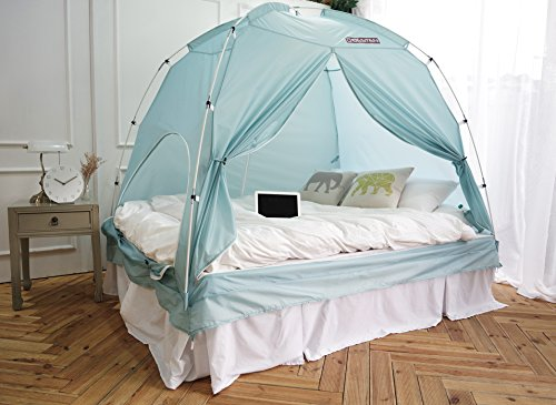 BESTEN Floorless Indoor Privacy Tent on Bed for Warm and ...