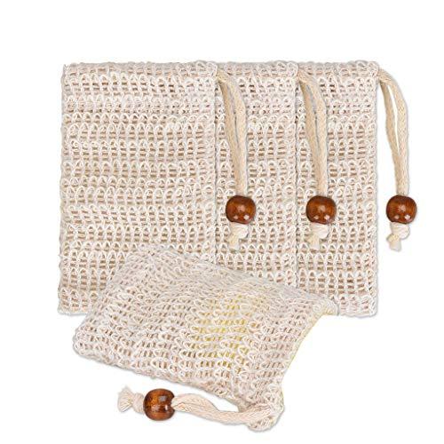 Lomsarsh 4Pcs Soap Bag Blister Mesh Foaming Net Fast Foam Soft and Comfortable Skin Care Tool ()