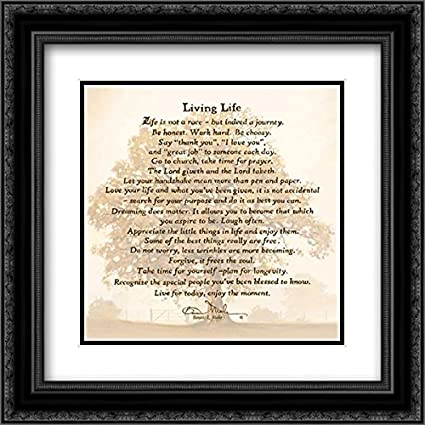 Amazon.com: Living Life 2x Matted 20x20 Black Ornate Framed Art ...