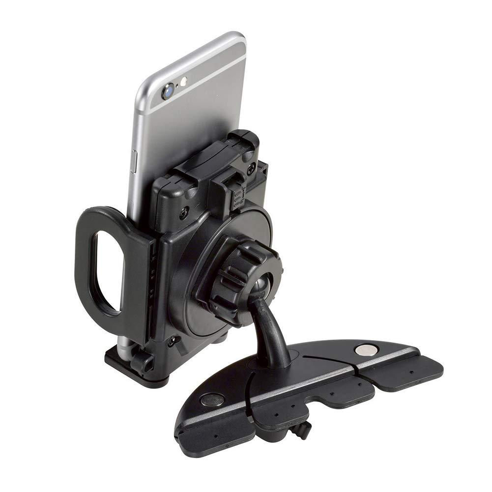 Black Grebest Car Phone Holder Interior Decoration Phone Holder Universal Telescopic Car CD Slot Mobile Phone GPS Mount Holder Bracket Cradle