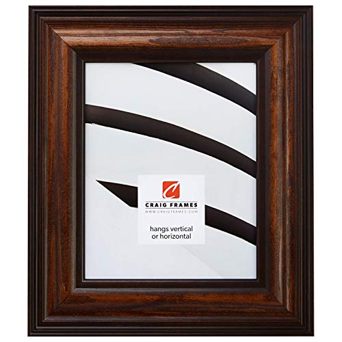 Craig Frames 80826200 24 by 36 Picture Frame, Wood Grain Finish, 2.5-Inch Wide, Dark Brown, Acrylic Facing, Foamcore Backing