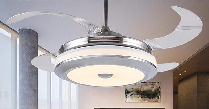 Lighsch ventilatori da soffitto con lampada camera da letto led