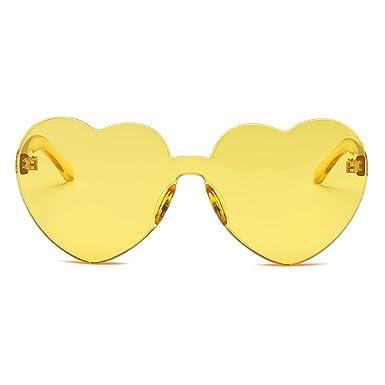 Inlefen Women girl en forma de corazón gafas de sol sin ...