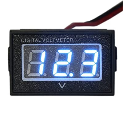 "Waterproof Monitor DC 4.5-150V 12/24/36/48V Volt Battery Meter Voltage Tester Automative Electric Cars Gauge Golf Cart E-Bike Bicycle Motorcycle Small Digital Voltmeter 0.56""LED Blue: Home Improvement"