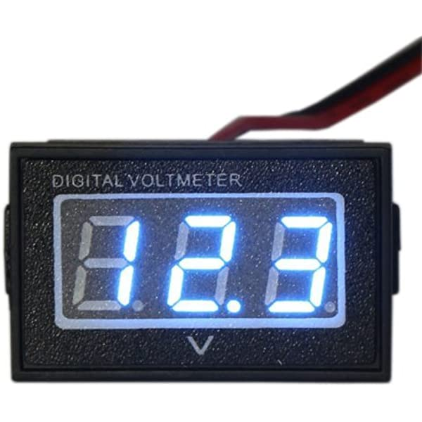 Water-Proof LCD Digital Battery Meter Can Be Tested to Show Real Time Voltage 6~120V Electricity Amount Voltmeter Battery Capacity Meter Electricity Percentage