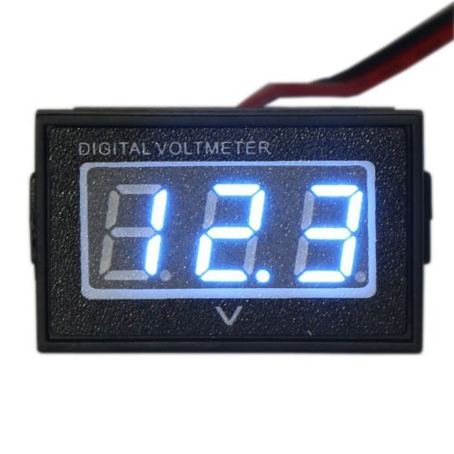 Waterproof Monitor DC 4.5-150V 12/24/36/48V Volt Battery Meter Voltage Tester Automative Electric Cars Gauge Golf Cart E-Bike Bicycle Motorcycle Small Digital Voltmeter 0.56