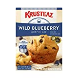 Krusteaz Wild Blueberry Muffin Mix - No Artificial Flavors, Colors or Preservatives - 17.1 OZ (Pack of 1)