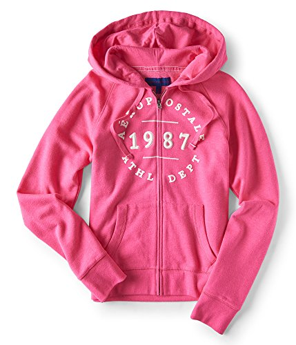 Aeropostale Aéropostale 1987 Athl Dept Full-Zip Hoodie Large Purple 553 (Aeropostale Clothing)
