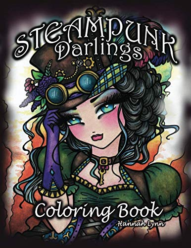 Steampunk Darlings Coloring Book -