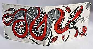 Cartera juvenil hombre Xtreme Free Style de lona serigrafiada serpiente varios colores (11x9) (Blanco)