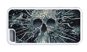 Hipster designer iPhone 5C case skull art TPU White for Apple iPhone 5C