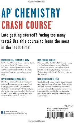 Amazon com: AP® Chemistry Crash Course, 2nd Ed , Book +