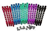 5 Colors/20 Pcs Aluminum Medium Darts Shafts Dart Stems Throwing Fitting...