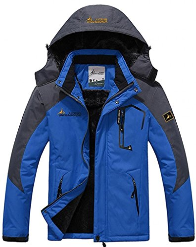 Figure Skating Costumes Designers (Century Star Winter Outdoor Waterproof Full Zip Men's Thermal Fleece Jackets Blue US XL (Tag Size 4XL))