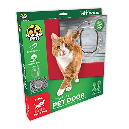 Magnetic Flap Lock - Hakuna Pets Dog & Cat Door w/Locks, Small, Ultra Clear