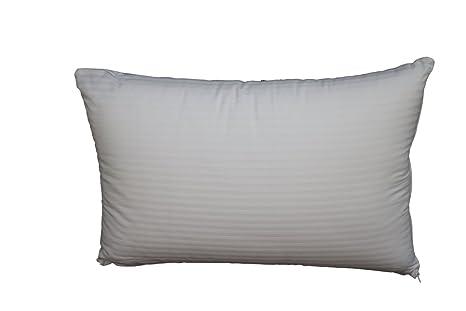 Moshy Pamplona almohada 70 x 40 cm, fibras cardadas tacto plumón, Funda extraíble y
