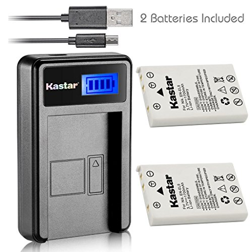 Lcd Usb Cable (Kastar Battery (X2) & LCD USB Charger for Nikon EN-EL5, ENEL5, MH-61 and Nikon Coolpix 3700, 4200, 5200, 5900, 7900, P3, P4, P80, P90, P100, P500, P510, P520, P530, P5000, P5100, P6000, S10 Cameras)