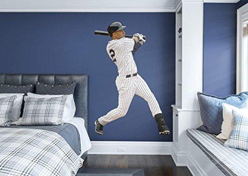 FATHEAD Derek Jeter New York Yankees Official MLB Vinyl Wall Graphic Life-Size, 6' FEET Tall!