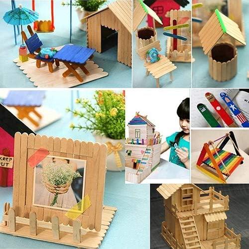 Brussels08 45 palos de madera natural para manualidades, palitos ...