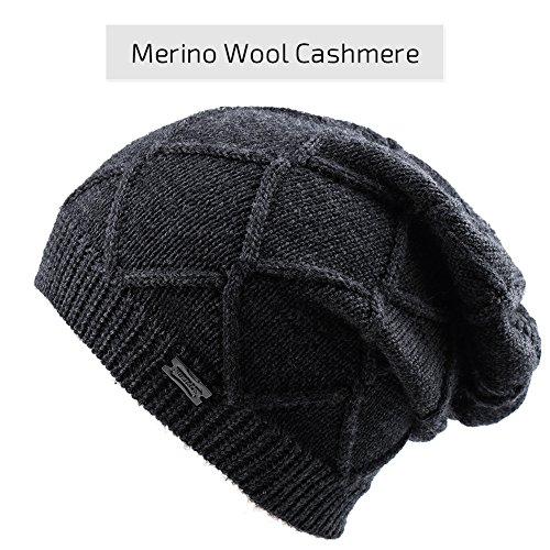 Winter Knit Hats For Women- Cashmere And Merino Wool Slouchy Beanie Skull Hat Caps FURTALK Designed (Cashmere Wool Womens)
