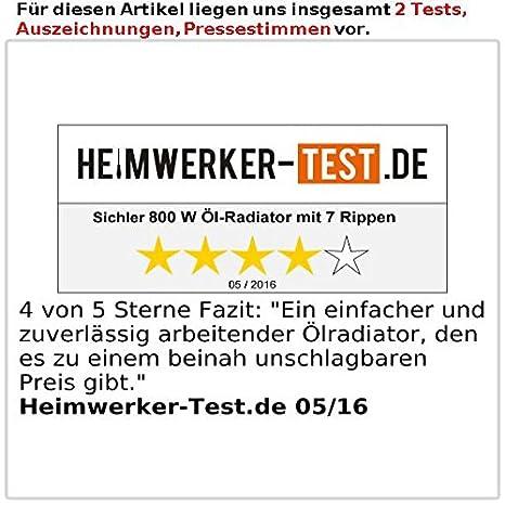 Sichler haushaltsgeräte Sichler aceite-radiador con 7 ...