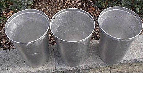 Vintage Lot Of 3 Maple Syrup OLD Tin Sap Buckets GREAT Decor Look Great With Your Flowers Durable Worth The Price