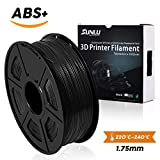 SUNLU 3D Printer Filament,ABS Plus Filament - 1.75 mm Black 1kg Spool (2.2 lbs) - Dimensional Accuracy +/- 0.02mm - 100% Virgin Raw Material
