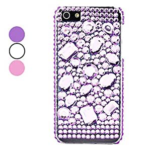 Pearl and Diamond Surface Hard Case for iPhone 5/5S (Assorted Colors) --- COLOR:Purple
