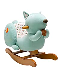 Labebe Child Rocking Horse Toy, Stuffed Animal Rocker, Blue Squirrel Plush Rocker Toy for Kid 6-36 Months, Wooden Rocking Horse Plush/Child Rocking Toy/Outdoor Rocking Horse/Rocker/Animal Ride on BOBEBE Online Baby Store From New York to Miami and Los Angeles
